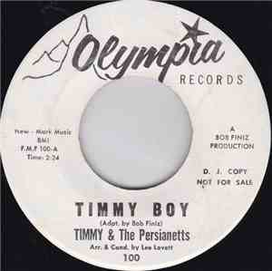 Timmy & The Persianetts - Timmy Boy