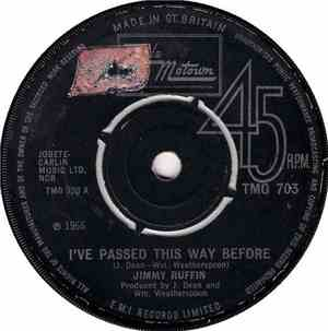 Jimmy Ruffin - I've Passed This Way Before